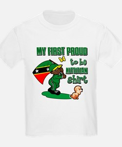 First Proud To Be Kittitian Kids design T-Shirt