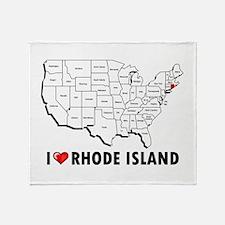 I Love Rhode Island Throw Blanket