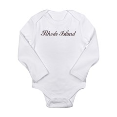 Rhode Island Long Sleeve Infant Bodysuit