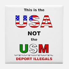 USA not USM Tile Coaster