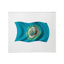 Wavy South Dakota Flag Throw Blanket