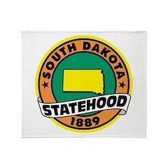 South Dakota Statehood Throw Blanket