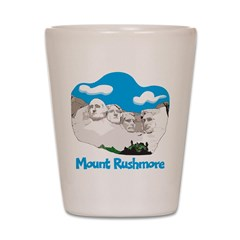 Mount Rushmore Shot Glass