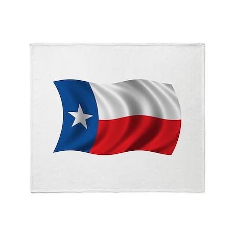 Wavy Texas Flag Throw Blanket