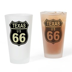 Texas Route 66 Pint Glass