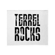 Terrel Rocks Throw Blanket