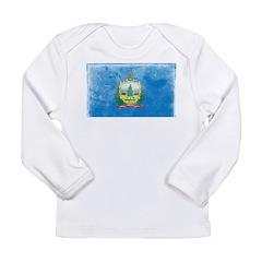 Vintage Vermont Flag Long Sleeve Infant T-Shirt