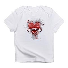 Heart Virginia Infant T-Shirt