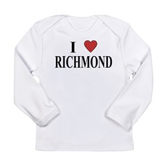 I Love Richmond Long Sleeve Infant T-Shirt