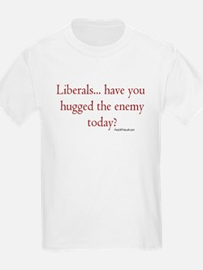 Anti-Liberal / Hugged the enemy Kids T-Shirt