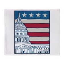 Vintage Washington Throw Blanket