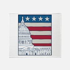 Vintage Washington Throw Blanket