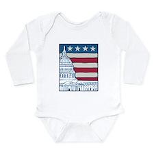 Vintage Washington Long Sleeve Infant Bodysuit