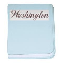 Vintage Washington baby blanket