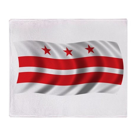 Wavy Washington DC Flag Throw Blanket