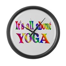 About Yoga Large Wall Clock
