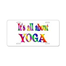 About Yoga Aluminum License Plate