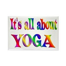 About Yoga Rectangle Magnet