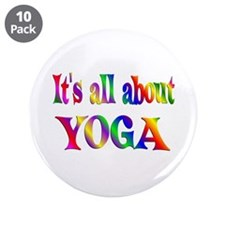 """About Yoga 3.5"""" Button (10 pack)"""