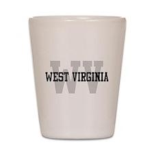 WV West Virginia Shot Glass