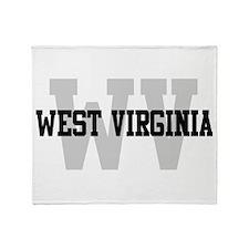 WV West Virginia Throw Blanket
