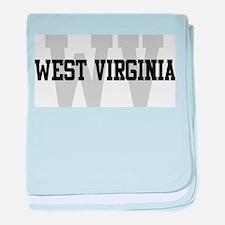 WV West Virginia baby blanket