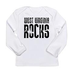 West Virginia Rocks Long Sleeve Infant T-Shirt