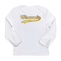 Vintage Wisconsin Long Sleeve Infant T-Shirt
