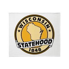 Wisconsin Statehood Throw Blanket