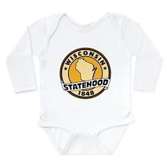 Wisconsin Statehood Long Sleeve Infant Bodysuit