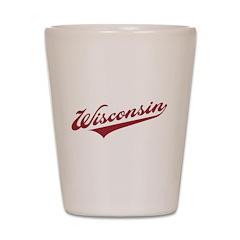 Retro Wisconsin Shot Glass