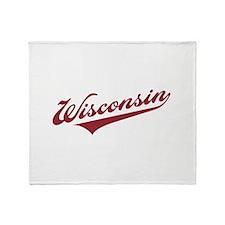 Retro Wisconsin Throw Blanket