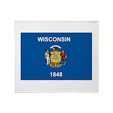 Wisconsin Flag Throw Blanket