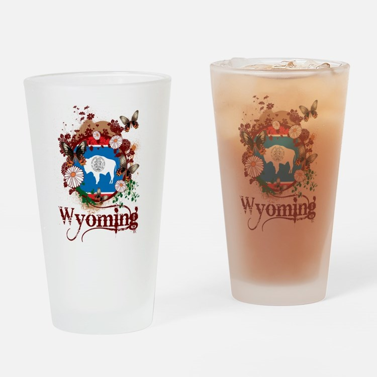 Butterfly Wyoming Pint Glass