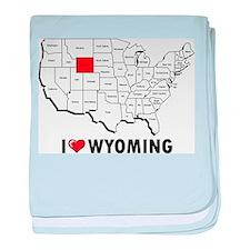 I Love Wyoming baby blanket