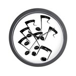 MUSICAL NOTES Wall Clock