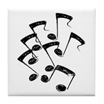 MUSICAL NOTES Tile Coaster