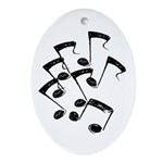 MUSICAL NOTES Ornament (Oval)