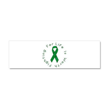 Green Ribbon - Survivor Car Magnet 10 x 3
