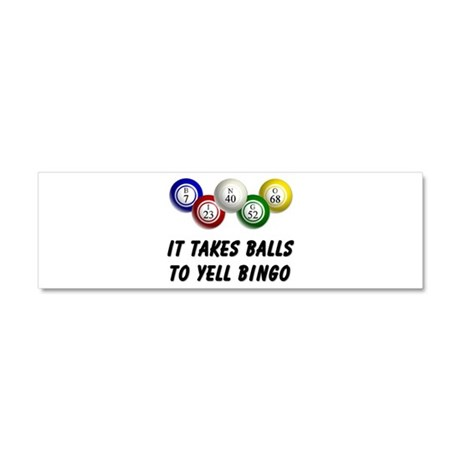 Balls to Bingo Car Magnet 10 x 3