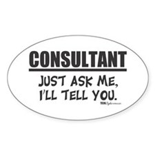 Consultant Oval Decal