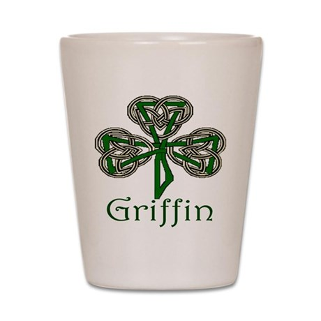 Griffin Shamrock Shot Glass