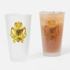 Gold Albania Pint Glass