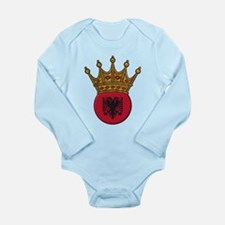 King Of Albania Long Sleeve Infant Bodysuit
