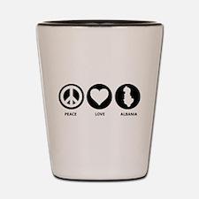 Peace Love Albania Shot Glass