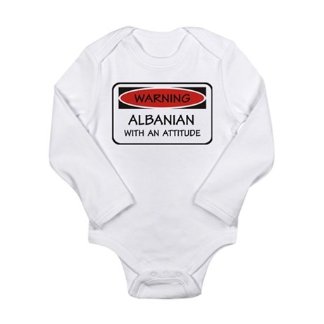 Attitude Albanian Long Sleeve Infant Bodysuit