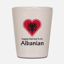 Happily Married Albanian Shot Glass