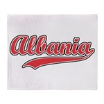 Retro Albania Throw Blanket