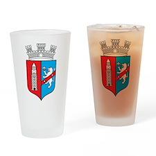 Tirana Coat Of Arms Pint Glass