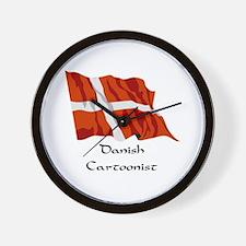 Danish Cartoonist Wall Clock
